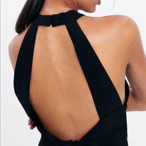 NWT's Zara Flowy Little Black Halter Dress Size S